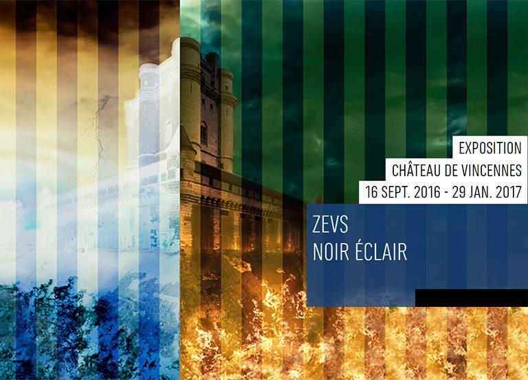 exposition « Noir Eclair » de l'artiste Zevs, au château de Vincennes